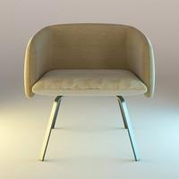 blender armchair 3d blend