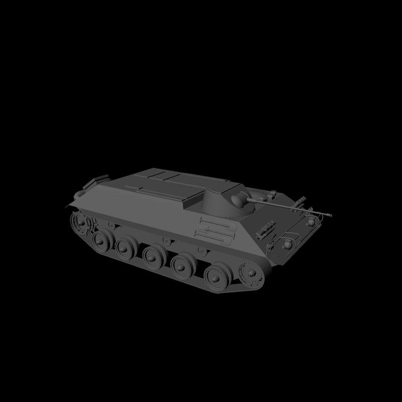 3d wwii german apc hs-30