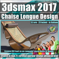 028 3ds max 2017 Chaise Longue v.28 Italiano cd front