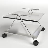 3d food trolley beverage cart model