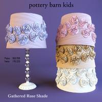 table lamp shade roses 3d model