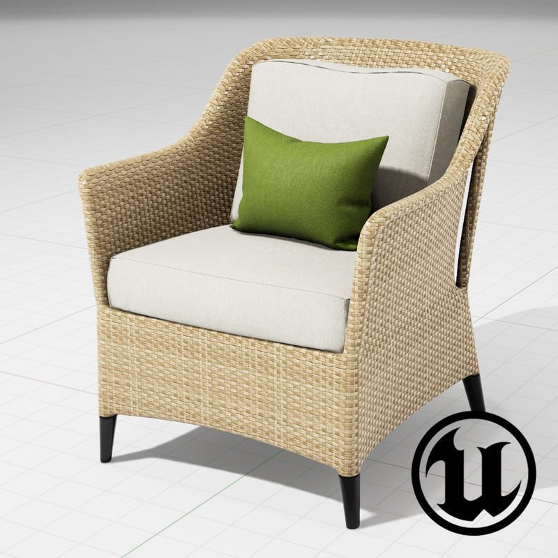 3d unreal dedon summerland chair model