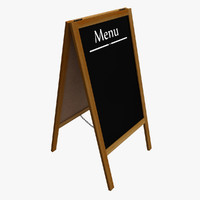 menu board 3d 3ds
