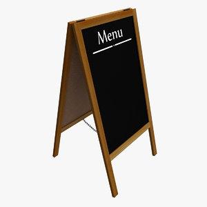 menu board 3d 3ds