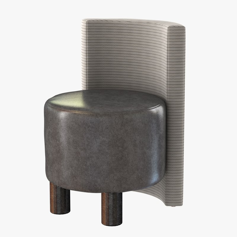 chair willoughby stool 3ds