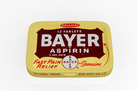 aspirin bayer pills tinbox 3d c4d