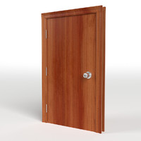 3d model flush door frame