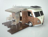 3d camping van model