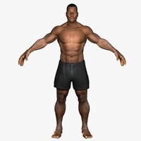african american male rigged 3d ma