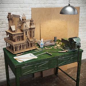3d model woodcraft fantasy villa