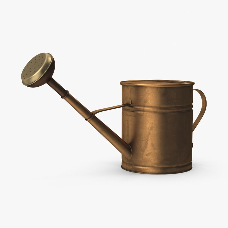 copper-watering-can 3d model