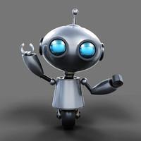 robot kyuut 3d max
