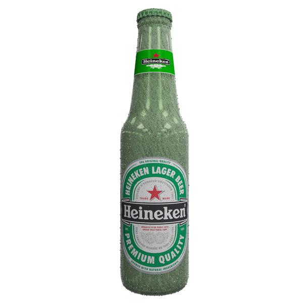 heiniken frozen chilly beer bottle max