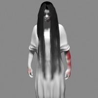 evil girl 3d model