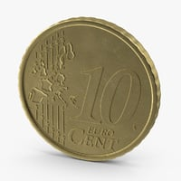 3d 10-cent-euro-coin model