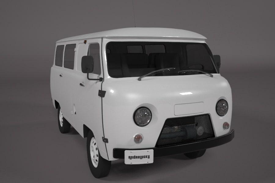 uaz 452 van 3d model