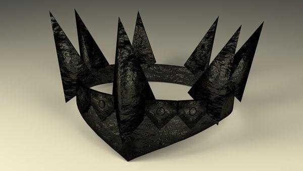 black obsidian crown 3d model
