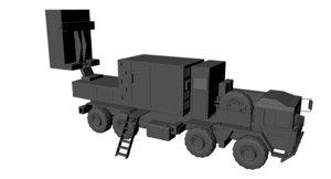counter-battery radar 3d model