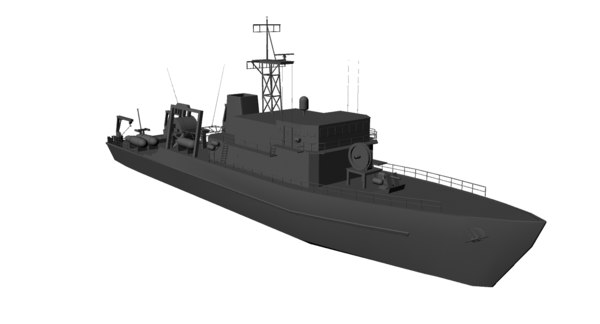 3d model of type yaeyama minelayer