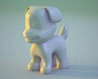 puppy dog nurb modeled 3d model