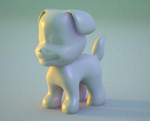 puppy dog nurb modeled 3d model