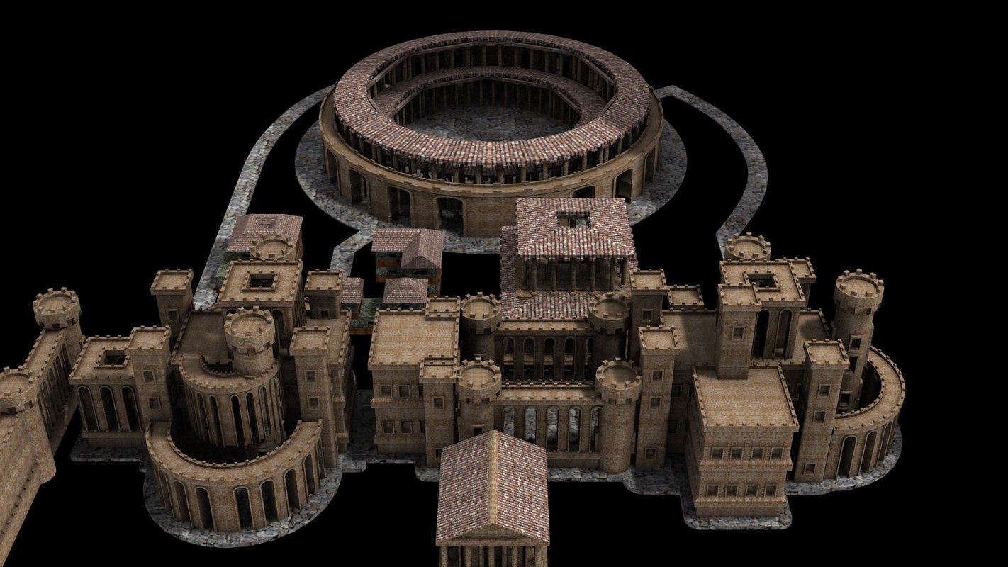 castle modules 3d max