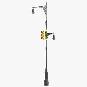 3d max new york street lamp