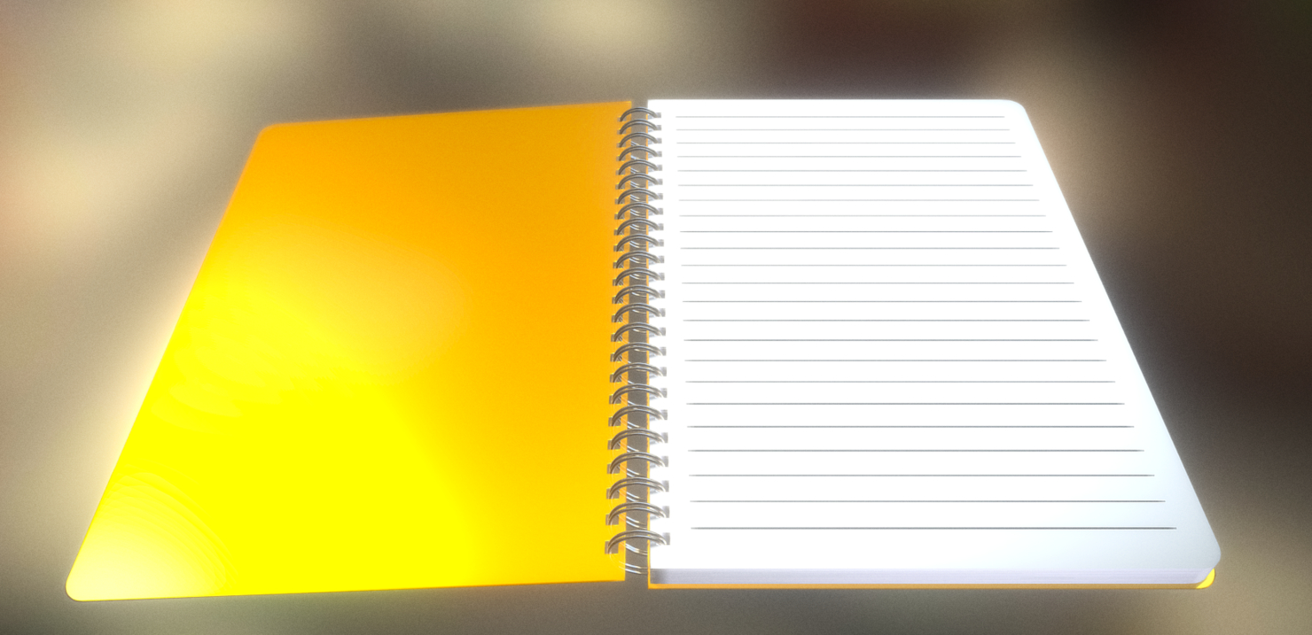 notepad lined 3d model