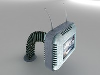 3d futuristic retro tv model