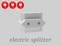free splitter electrical outlet 3d model
