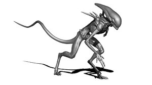 free obj model alien sculpt