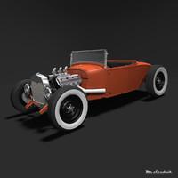 hot rod roadster 3d 3ds
