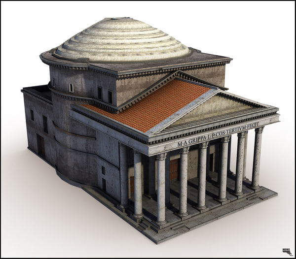 rome pantheon 3d obj