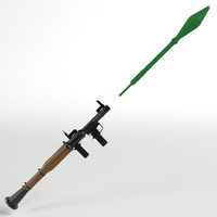 3d model rpg-7 rocket launcher