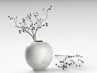 3d model crackle vase blackthorn