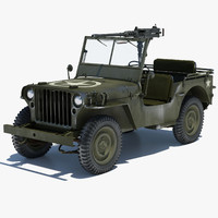3d willys jeep 1