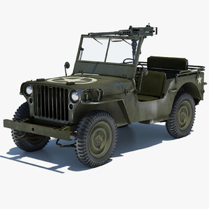 3d willys jeep 1 model