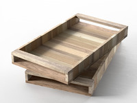 3d wooden trays