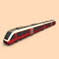 3d model train public transport