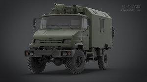 3d transport truck model