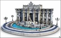 Trevi Fountain, (Fontana di Trevi), Rome.