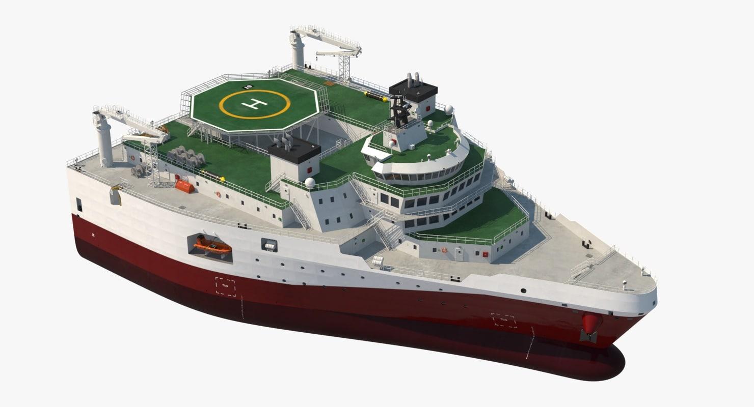 3d delta seismic survey vessel