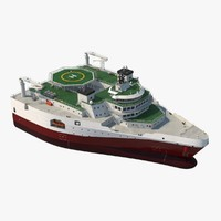 delta seismic survey vessel 3d model
