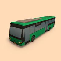 3d bus public transport model