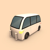 electric car taxi 3ds