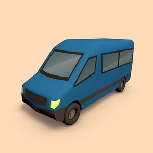 3d model of van bus