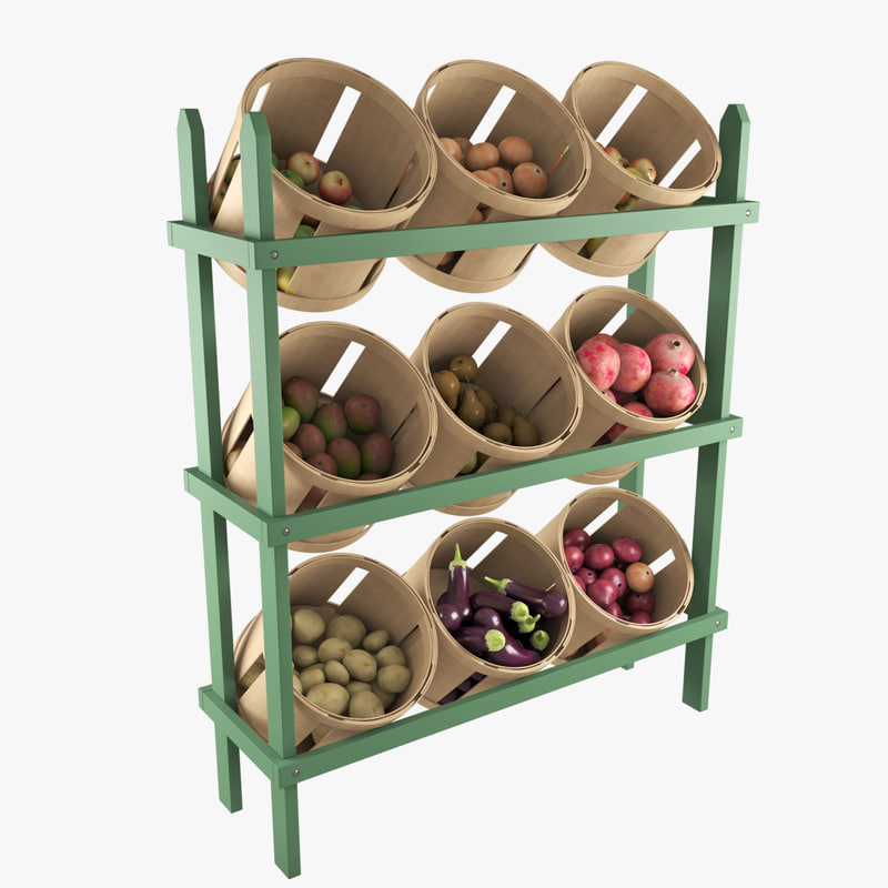 3d wood basket display