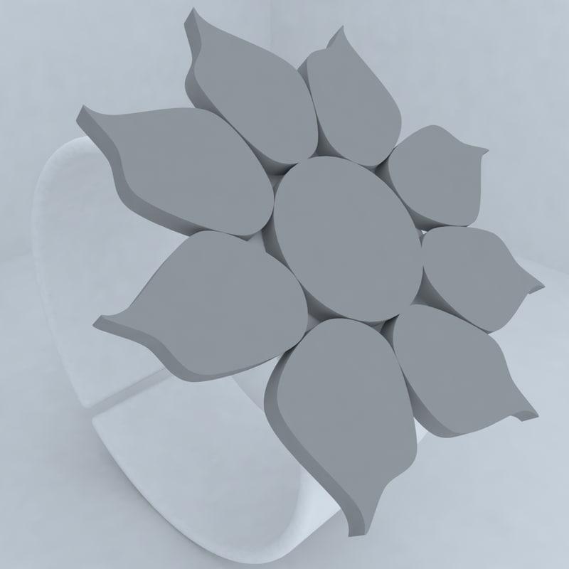 3d model of design jewellery