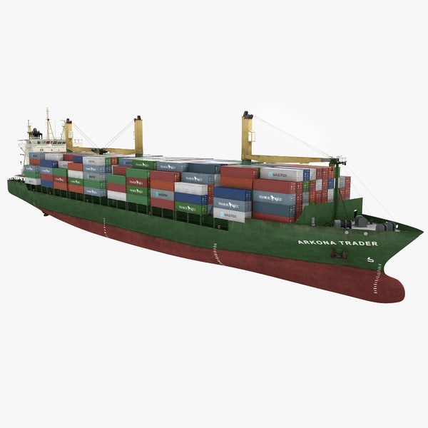 3d model containers ship