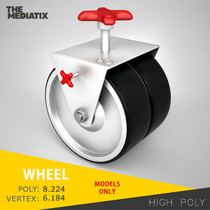 3d industrial whell model